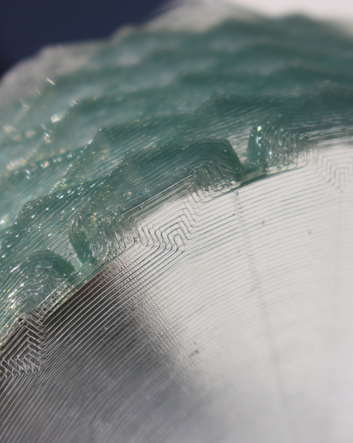 Translucent base of Pineapple vase 0.3mm thick